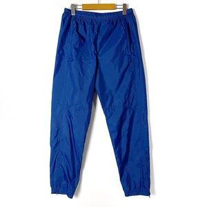 Vintage 90's Nike Blue Nylon Warm Up / Wind Pants